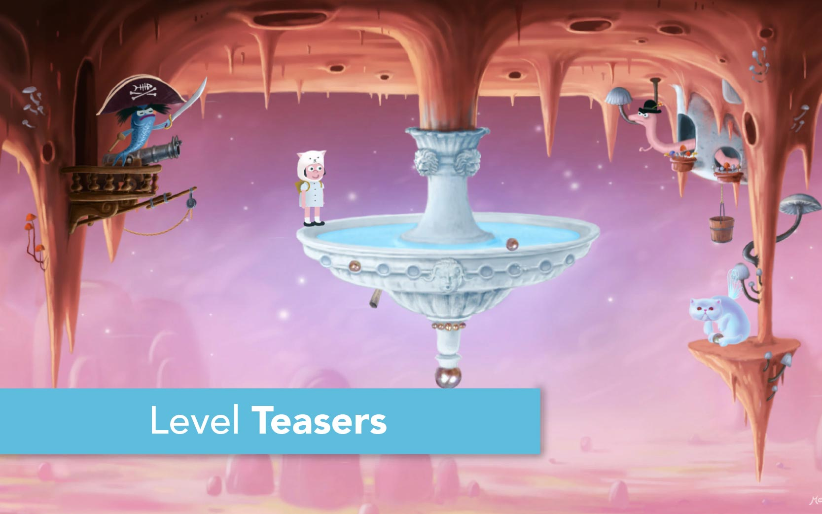Catie in MeowmeowLand - Level Teasers - Short tease videos of levels