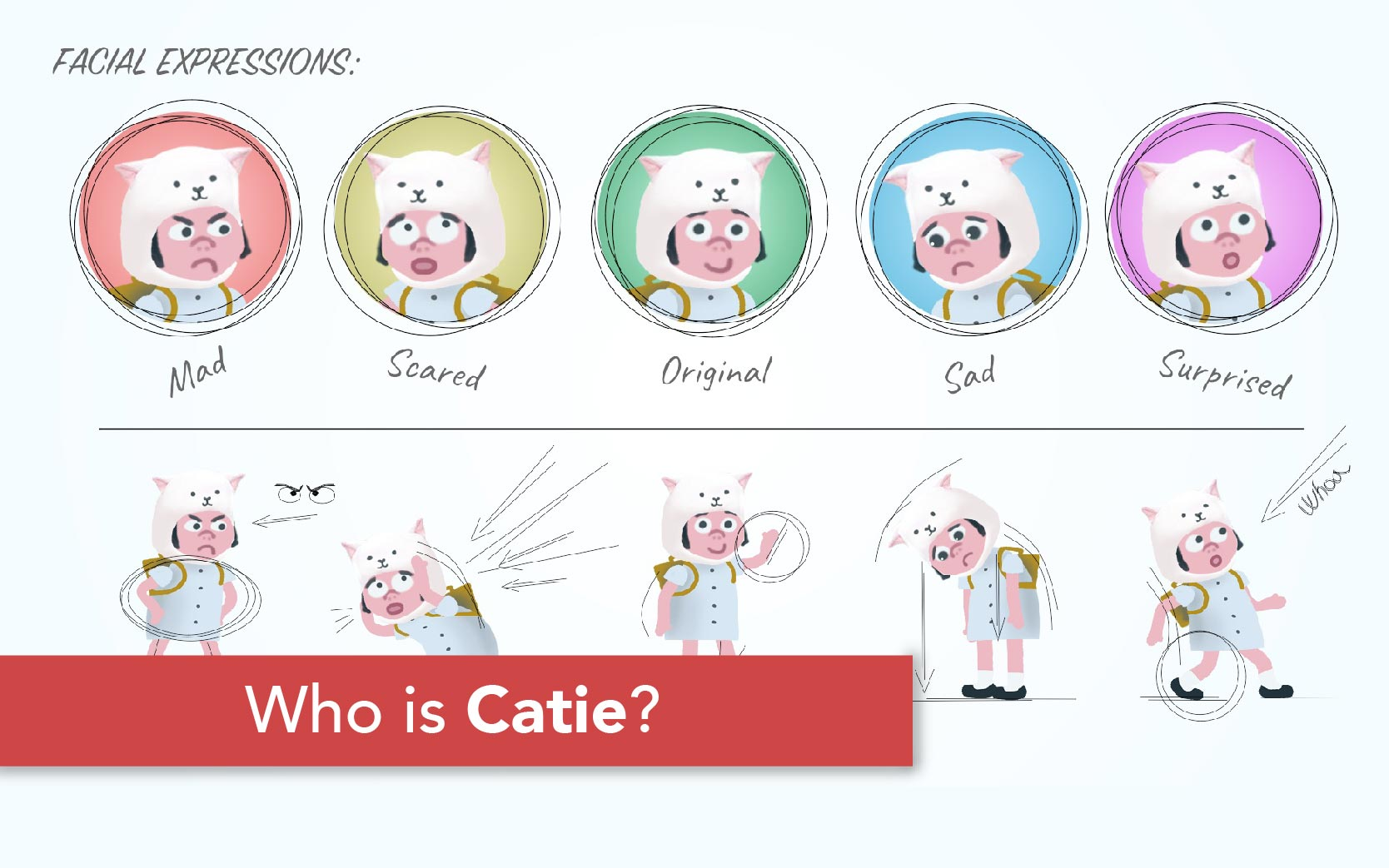 Catie in MeowmeowLand - Who is Catie as a main character of point and click adventure indie game